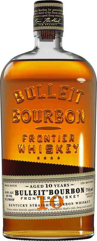 33,95 € Free Shipping | Bourbon Bulleit Distillery 10 Años Reserva United States Bottle 70 cl
