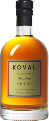 45,95 € Free Shipping | Bourbon Koval Reserva United States Half Bottle 50 cl