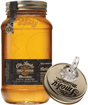 29,95 € Free Shipping | Whisky Blended Ole Smoky Harley Davidson Reserva United States Half Bottle 50 cl