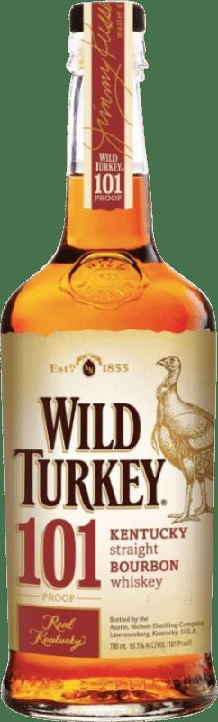 28,95 € Free Shipping | Bourbon Wild Turkey 101 United States Bottle 70 cl