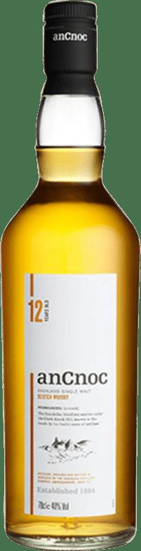 33,95 € 免费送货   威士忌单一麦芽威士忌 Ancnoc 12 Años 英国 瓶子 70 cl