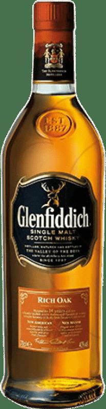 38,95 € Free Shipping | Whisky Single Malt Glenfiddich Rich Oak 14 Años United Kingdom Bottle 70 cl