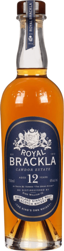 45,95 € Free Shipping | Whisky Single Malt Royal Brackla 12 Años United Kingdom Bottle 70 cl