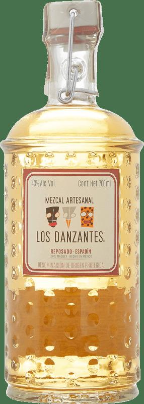58,95 € 免费送货   梅斯卡尔酒 Los Danzantes Reposado 墨西哥 瓶子 70 cl