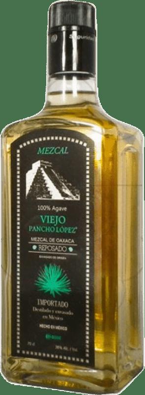24,95 € 免费送货   梅斯卡尔酒 Pancho Lopez Reposado 墨西哥 瓶子 70 cl
