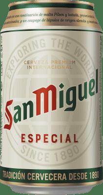 0,95 € 免费送货   啤酒 Cervezas San Miguel 西班牙 Lata 33 cl
