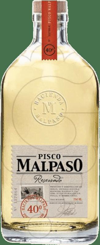 21,95 € Envoi gratuit | Pisco Hacienda Mal Paso Malpaso Reserva Chili Bouteille 70 cl