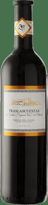Kostenloser Versand | Rotwein Traslascuestas Jung D.O. Ribera del Duero Spanien Tempranillo Flasche 75 cl