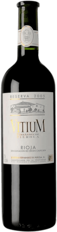 Free Shipping | Red wine Piérola Vitium Reserva D.O.Ca. Rioja Spain Tempranillo Bottle 75 cl