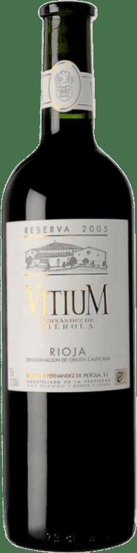 Envío gratis | Vino tinto Piérola Vitium Reserva D.O.Ca. Rioja España Tempranillo Botella 75 cl