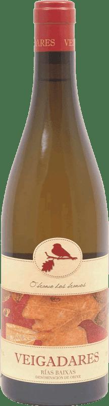 Envío gratis | Vino blanco Adegas Galegas Veigadares D.O. Rías Baixas España Botella 75 cl