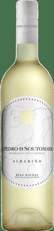 Free Shipping | White wine Adegas Galegas Don Pedro de Soutomaior Neve D.O. Rías Baixas Spain Albariño Bottle 75 cl