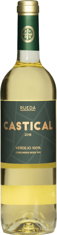 6,95 € Free Shipping | White wine Thesaurus Castical Joven D.O. Rueda Castilla y León Spain Verdejo, Sauvignon White Bottle 75 cl