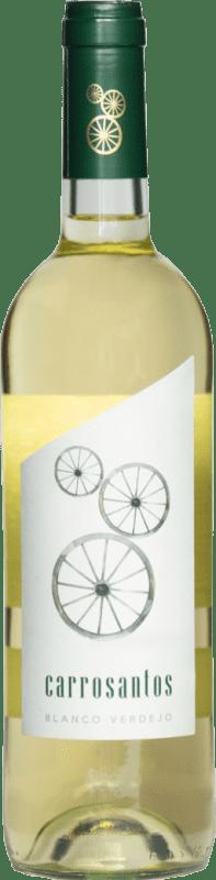 3,95 € Envío gratis | Vino blanco Thesaurus Carrosantos Joven I.G.P. Vino de la Tierra de Castilla y León Castilla y León España Viura, Verdejo, Sauvignon Blanca Botella 75 cl
