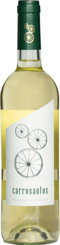 2,95 € | White wine Thesaurus Carrosantos Joven I.G.P. Vino de la Tierra de Castilla y León Castilla y León Spain Viura, Verdejo, Sauvignon White Bottle 75 cl