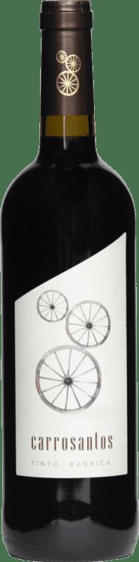 3,95 € 免费送货 | 红酒 Thesaurus Carrosantos Joven I.G.P. Vino de la Tierra de Castilla y León 卡斯蒂利亚莱昂 西班牙 Tempranillo 瓶子 75 cl