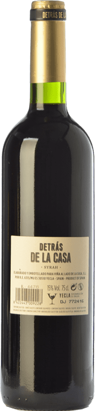 17,95 € Free Shipping | Red wine Castaño Detrás de la Casa Crianza D.O. Yecla Region of Murcia Spain Syrah Magnum Bottle 1,5 L