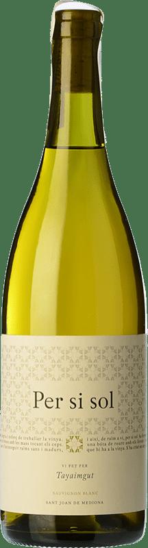 16,95 € Free Shipping | White wine Tayaimgut Per si sol Blanco Crianza D.O. Catalunya Catalonia Spain Sauvignon White Bottle 75 cl