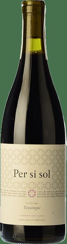 16,95 € Free Shipping | Red wine Tayaimgut Per si sol Tinto Crianza D.O. Catalunya Catalonia Spain Cabernet Sauvignon Bottle 75 cl