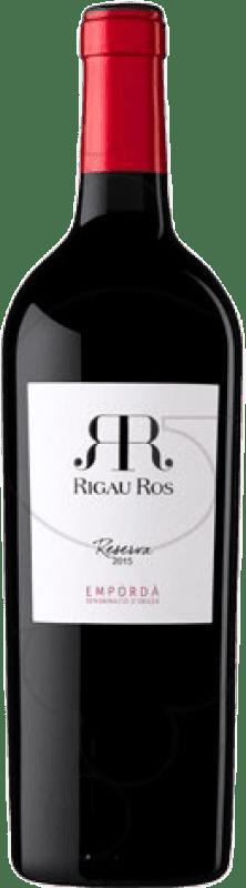 8,95 € Free Shipping | Red wine Oliveda Rigau Ros Reserva D.O. Empordà Catalonia Spain Merlot, Grenache, Cabernet Sauvignon Bottle 75 cl