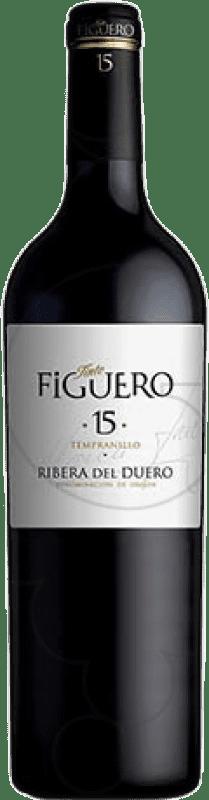 255,95 € Free Shipping   Red wine Figuero 15 Meses Reserva D.O. Ribera del Duero Castilla y León Spain Tempranillo Special Bottle 5 L