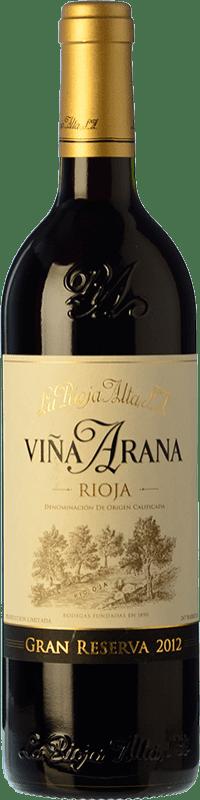 28,95 € Free Shipping | Red wine Rioja Alta Viña Arana Gran Reserva D.O.Ca. Rioja The Rioja Spain Tempranillo, Graciano Bottle 75 cl