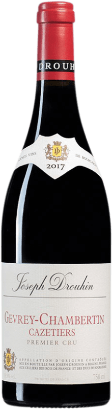 154,95 € Free Shipping | Red wine Drouhin 1er Cru Cazetiers A.O.C. Gevrey-Chambertin Burgundy France Pinot Black Bottle 75 cl