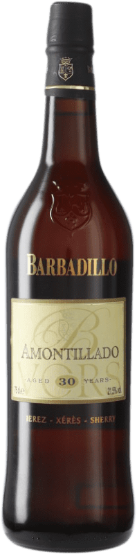 113,95 € 免费送货 | 强化酒 Barbadillo Amontillado V.O.R.S. Very Old Rare Sherry D.O. Jerez-Xérès-Sherry 安达卢西亚 西班牙 Palomino Fino 瓶子 75 cl