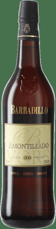 113,95 € Envío gratis | Vino generoso Barbadillo Amontillado V.O.R.S. Very Old Rare Sherry D.O. Jerez-Xérès-Sherry Andalucía España Palomino Fino Botella 75 cl
