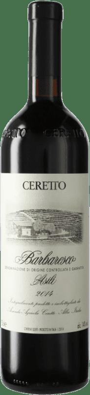 219,95 € Free Shipping | Red wine Ceretto Asili D.O.C.G. Barbaresco Piemonte Italy Nebbiolo Bottle 75 cl