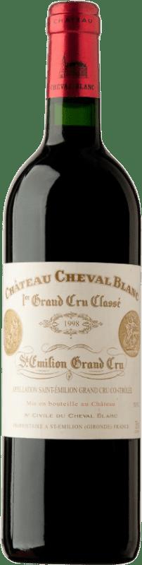 638,95 € | Red wine Château Cheval Blanc 1998 A.O.C. Saint-Émilion Bordeaux France Merlot, Cabernet Franc Bottle 75 cl