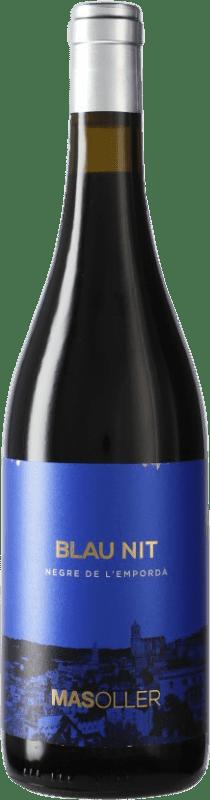 8,95 € Envío gratis | Vino tinto Mas Oller Blaunit D.O. Empordà Cataluña España Botella 75 cl