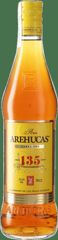 13,95 € 免费送货 | 朗姆酒 Arehucas Carta Oro 加那利群岛 西班牙 瓶子 70 cl