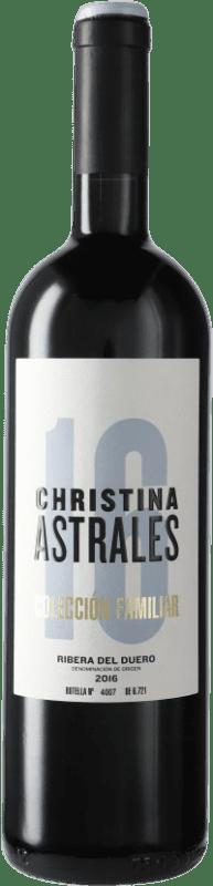 39,95 € Free Shipping | Red wine Astrales Christina D.O. Ribera del Duero Castilla y León Spain Tempranillo Bottle 75 cl