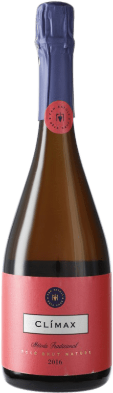 24,95 € Free Shipping | Rosé sparkling Can Ràfols Clímax Rosat Brut Nature D.O. Penedès Catalonia Spain Pinot Black Bottle 75 cl