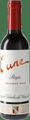 4,95 € Envío gratis | Vino tinto Norte de España - CVNE Cune Crianza D.O.Ca. Rioja España Media Botella 37 cl