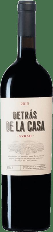 28,95 € Envío gratis | Vino tinto Castaño Detrás de la Casa D.O. Yecla España Syrah Botella Mágnum 1,5 L