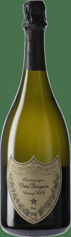 187,95 € | White sparkling Moët & Chandon Dom Pérignon 2008 A.O.C. Champagne Champagne France Pinot Black, Chardonnay Bottle 75 cl