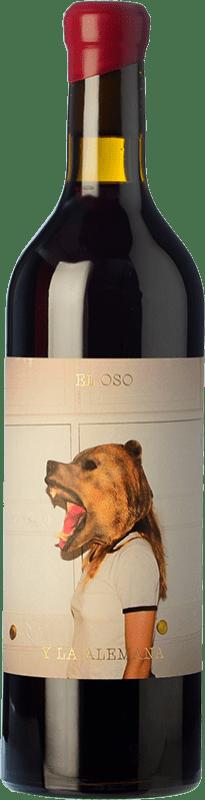 9,95 € Envío gratis | Vino tinto Máquina & Tabla El Oso y La Alemana D.O. Toro Castilla y León España Garnacha, Tinta de Toro Botella 75 cl