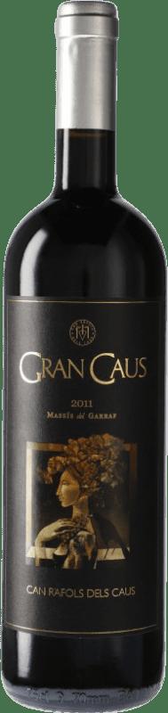 21,95 € Free Shipping | Red wine Can Ràfols Gran Caus Reserva D.O. Penedès Catalonia Spain Merlot, Cabernet Sauvignon, Cabernet Franc Bottle 75 cl