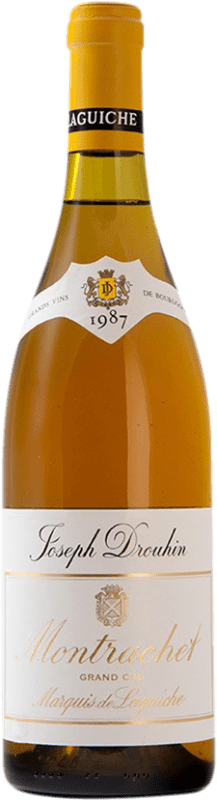 1 098,95 € Free Shipping | White wine Drouhin Grand Cru Marquis de Laguiche 1987 A.O.C. Montrachet Burgundy France Chardonnay Bottle 75 cl