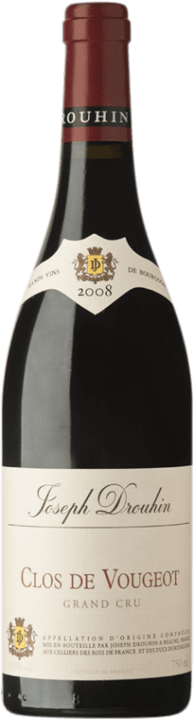 291,95 € Free Shipping | Red wine Drouhin Grand Cru 2008 A.O.C. Clos de Vougeot Burgundy France Pinot Black Bottle 75 cl