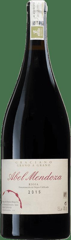 104,95 € Free Shipping | Red wine Abel Mendoza Grano a Grano D.O.Ca. Rioja Spain Graciano Magnum Bottle 1,5 L