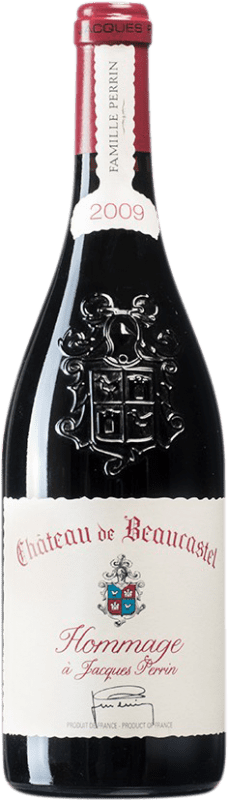 565,95 € Free Shipping | Red wine Château Beaucastel Hommage à Jacques Perrin 2009 A.O.C. Châteauneuf-du-Pape France Syrah, Mourvèdre Bottle 75 cl