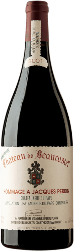 886,95 € Free Shipping | Red wine Château Beaucastel Hommage à Jacques Perrin 2001 A.O.C. Châteauneuf-du-Pape France Syrah, Mourvèdre Magnum Bottle 1,5 L