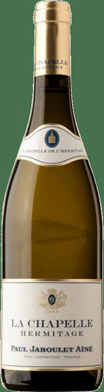 263,95 € Envío gratis | Vino blanco Jaboulet Aîné La Chapelle Blanc A.O.C. Hermitage Francia Marsanne Botella 75 cl