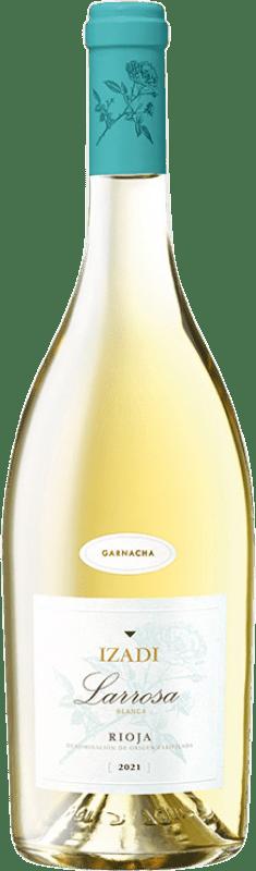 6,95 € Envío gratis | Vino blanco Izadi Larrosa D.O.Ca. Rioja España Garnacha Blanca Botella 75 cl