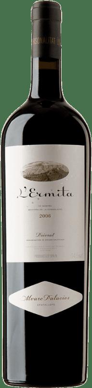 4 669,95 € Envío gratis | Vino tinto Álvaro Palacios L'Ermita 2006 D.O.Ca. Priorat Cataluña España Garnacha, Cabernet Sauvignon Botella Jéroboam-Doble Mágnum 3 L