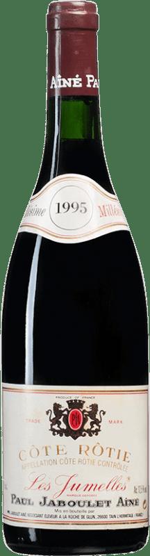 91,95 € Envío gratis | Vino tinto Jaboulet Aîné Les Jumelles 1995 A.O.C. Côte-Rôtie Francia Syrah Botella 75 cl