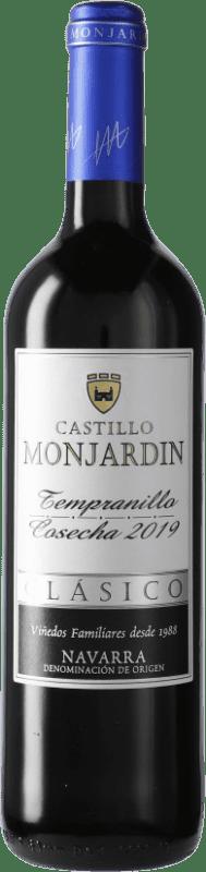 5,95 € Free Shipping | Red wine Castillo de Monjardín D.O. Navarra Navarre Spain Tempranillo Bottle 75 cl